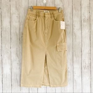 Free People We The Free Scout Midi Sand Skirt 26